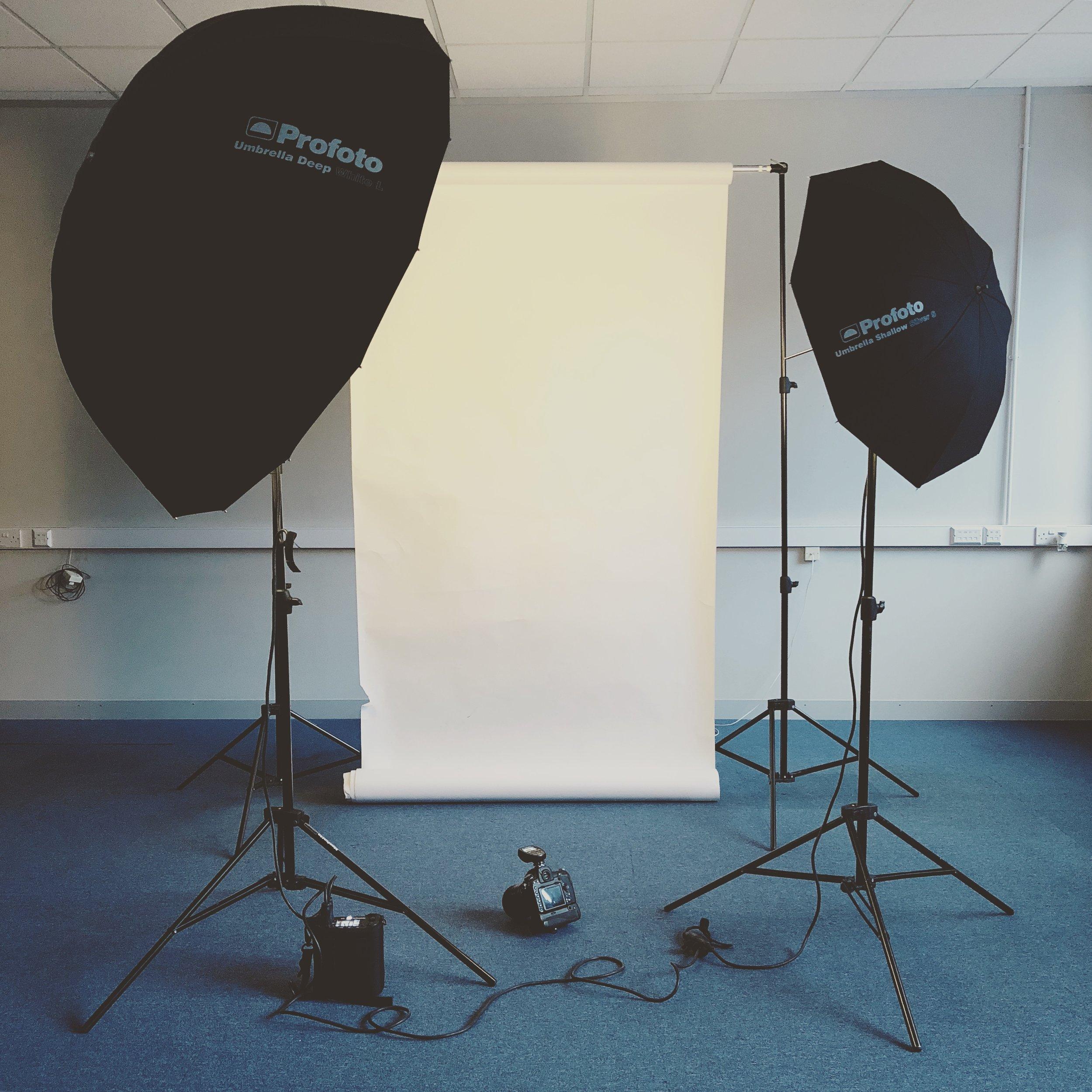 Mobile photography studio setup