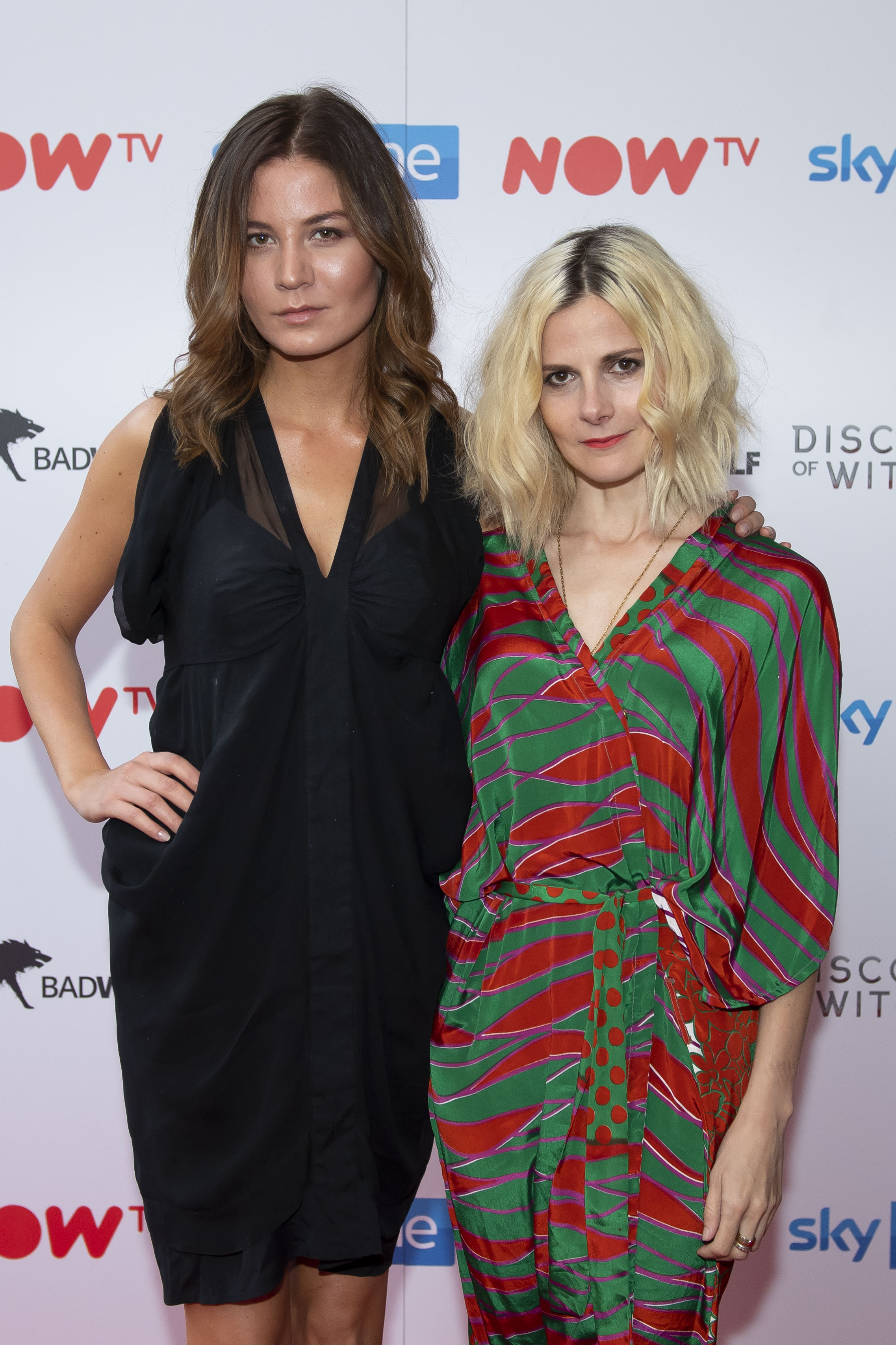 CARDIFF, WALES - SEPTEMBER 05: Malin Buska and Louise Brealey attend the UK Premiere of 'A Discovery Of Witches' at Cineworld on September 5, 2018 in Cardiff, Wales. (Photo by Matthew Horwood/Getty Images)
