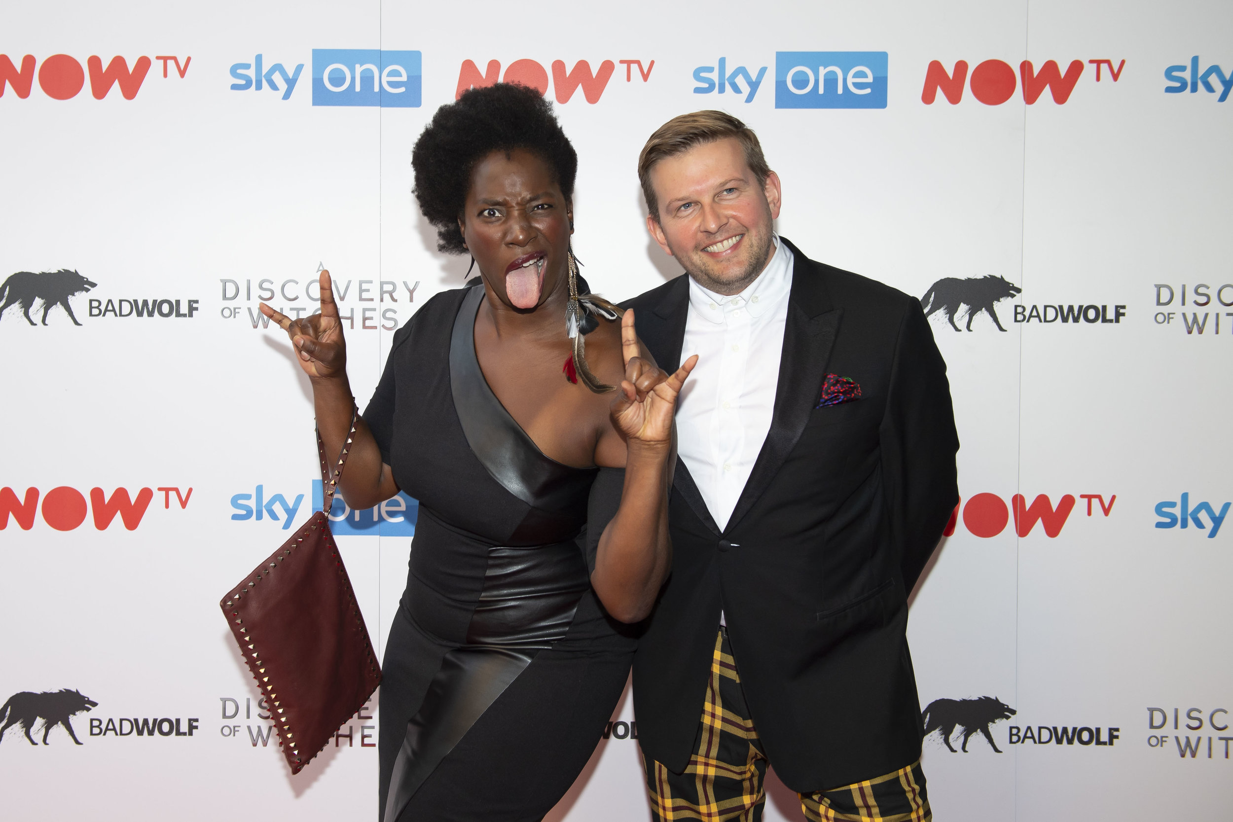 CARDIFF, WALES - SEPTEMBER 05: Tanya Moodie and Greg McHugh attend the UK Premiere of 'A Discovery Of Witches' at Cineworld on September 5, 2018 in Cardiff, Wales. (Photo by Matthew Horwood/Getty Images)