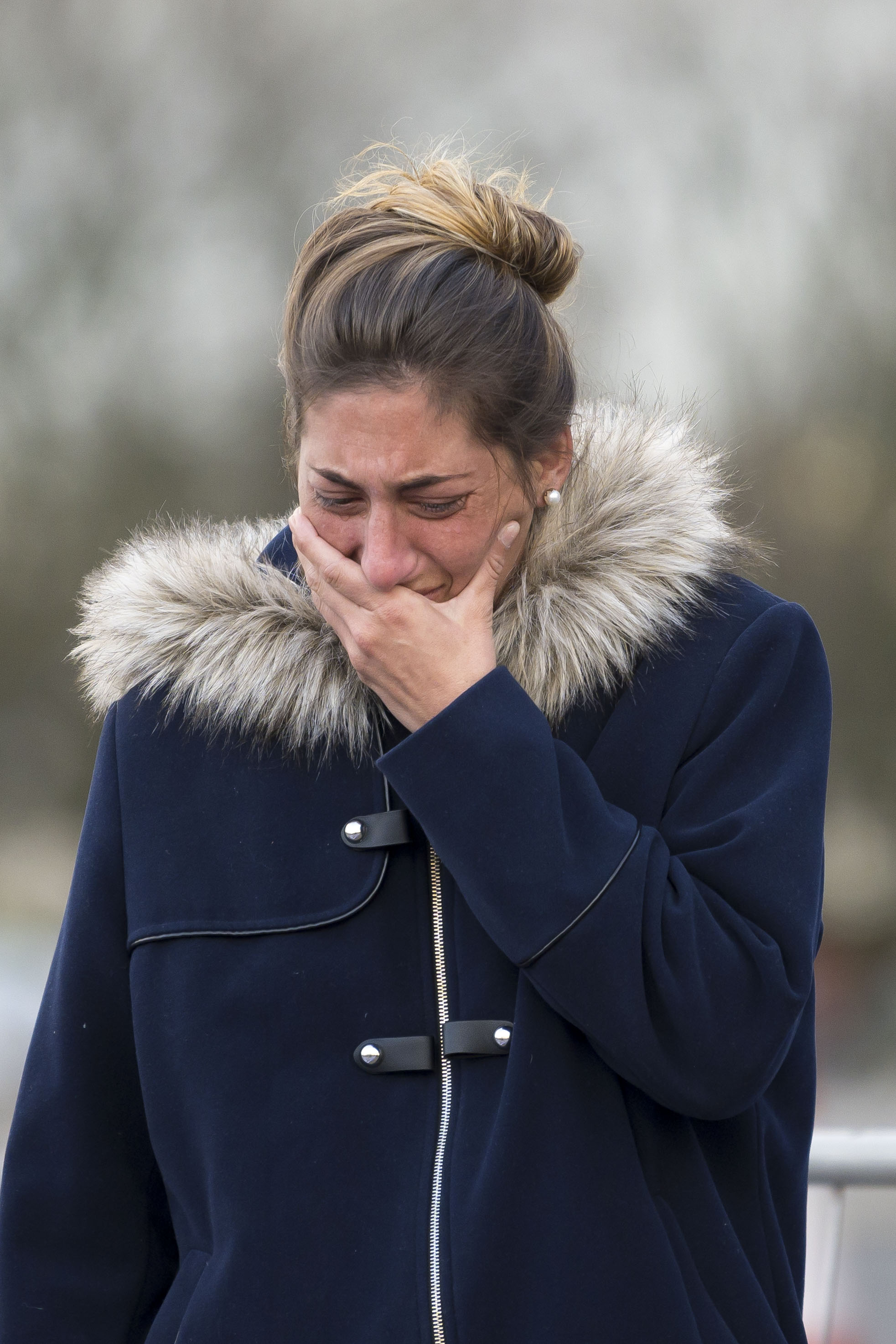 CARDIFF, WALES - JANUARY 25: Romina Sala, sister of new Cardiff City F.C signing Emiliano Sala, visits tributes at the Cardiff City Stadium on January 25, 2019 in Cardiff, Wales. Emiliano Sala is one of two people who boarded a Piper Malibu private plane on Monday night, taking the footballer from his previous club Nantes in France, to Cardiff City where he was due to begin training with his new team. Sala, originally from Argentina, had sent whatsapp messages to friends before the plane lost contact off Alderney in the Channel Islands. Rescuers have announced they are no longer actively searching for the plane. (Photo by Matthew Horwood/Getty Images)