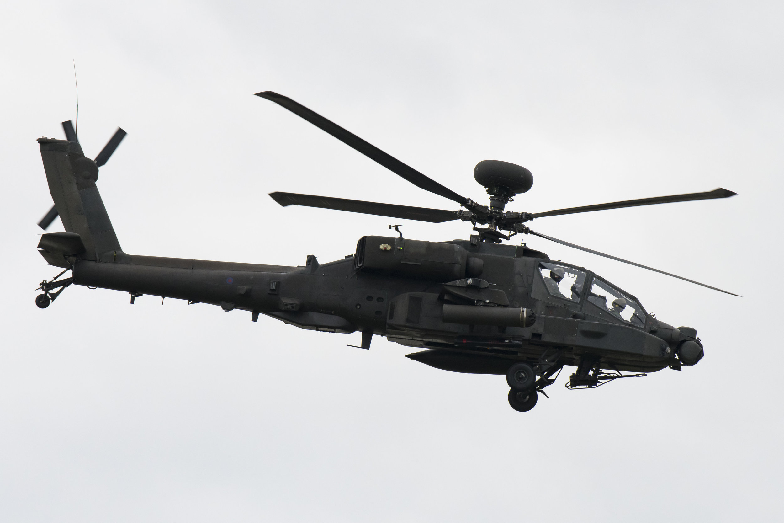FAIRFORD, ENGLAND - JULY 21: An  AAC Apache AH1 performs during the the International Air Tattoo at RAF Fairford on July 21, 2019 in Fairford, England. The Royal International Air Tattoo (RIAT) is the world's largest military air show, held in support of The Royal Air Force Charitable Trust. (Photo by Matthew Horwood/Getty Images)
