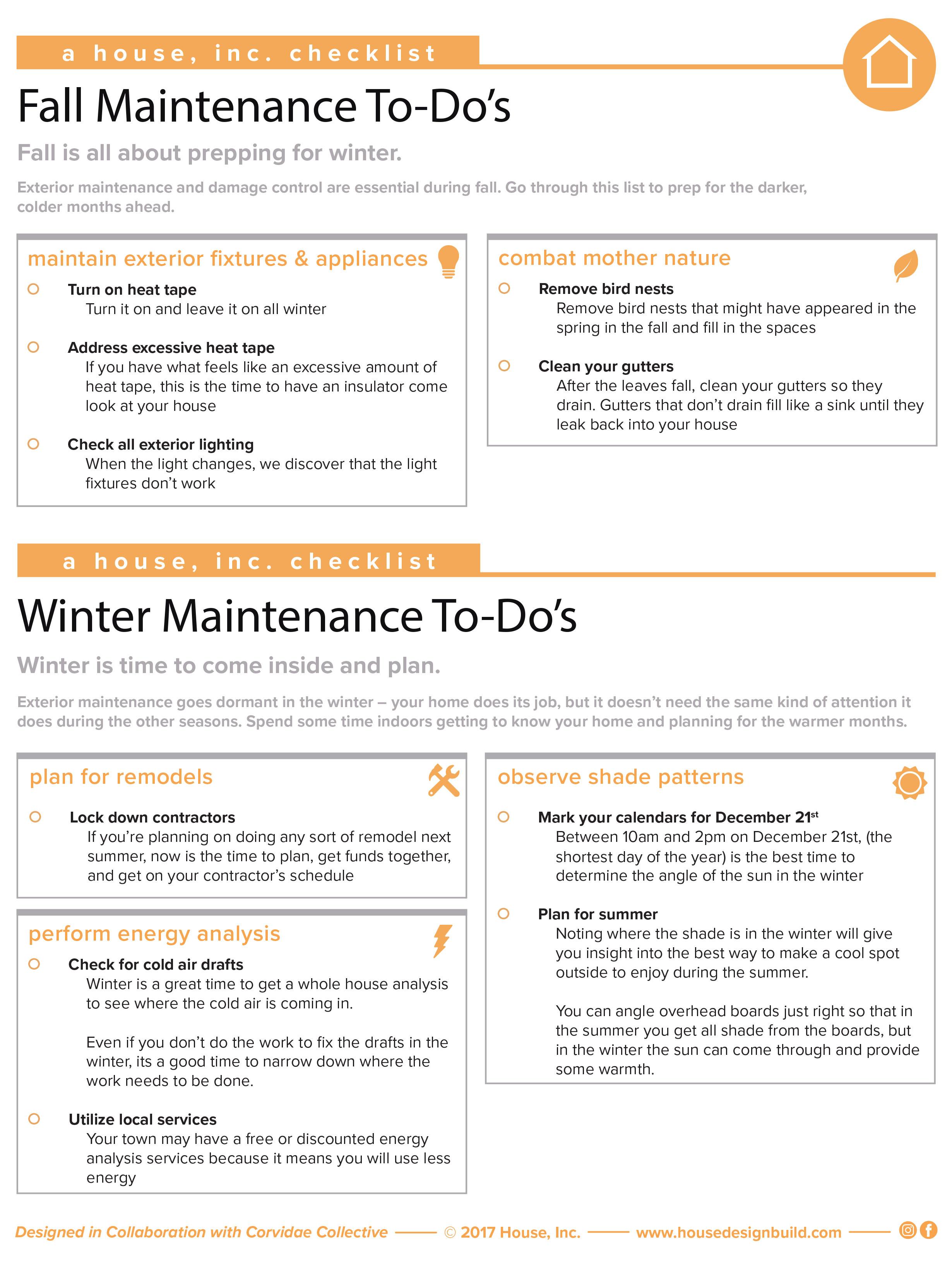 Fall Maintenance To-Do's