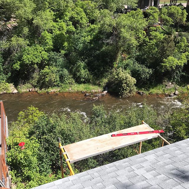 My work place lately...Frying Pan River in Basalt Colorado. Building what I design, designing what I build. #houseaspen #coolofficespaces #grateful #designbuild #basaltcolorado