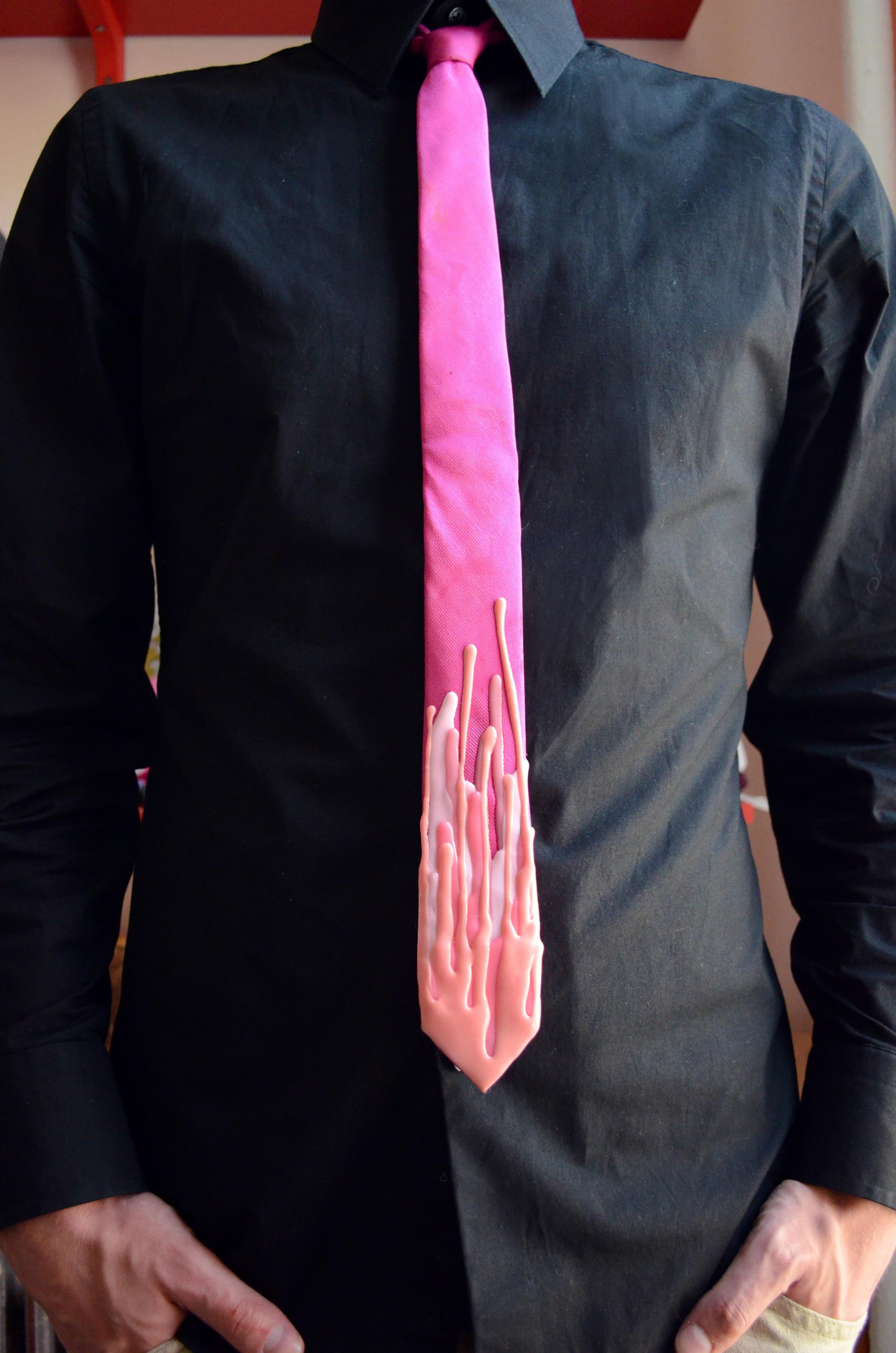 Silicone Drip Skinny Tie