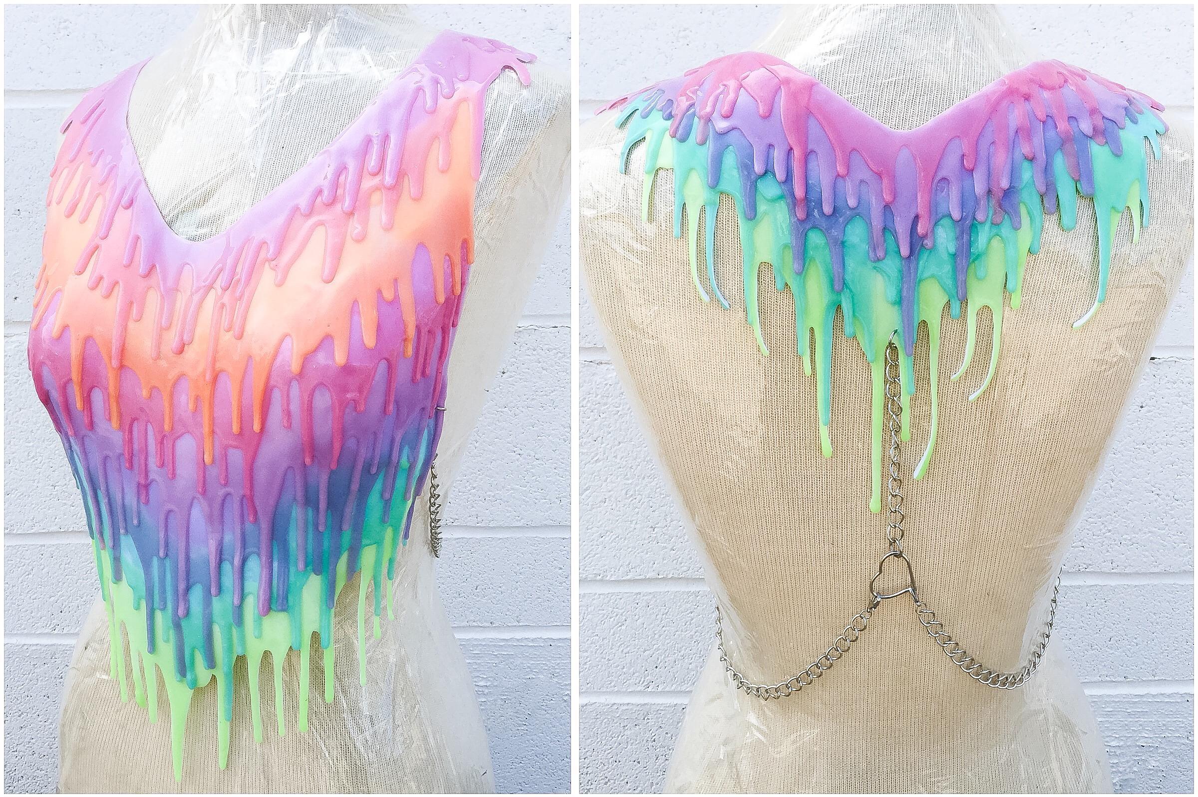 Rainbow Silicone Drip Halter