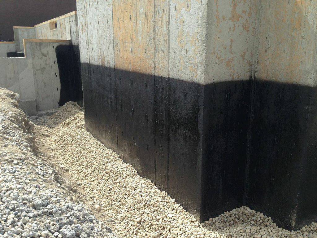 Tar Damp-proofing — Treval Foundation Spray