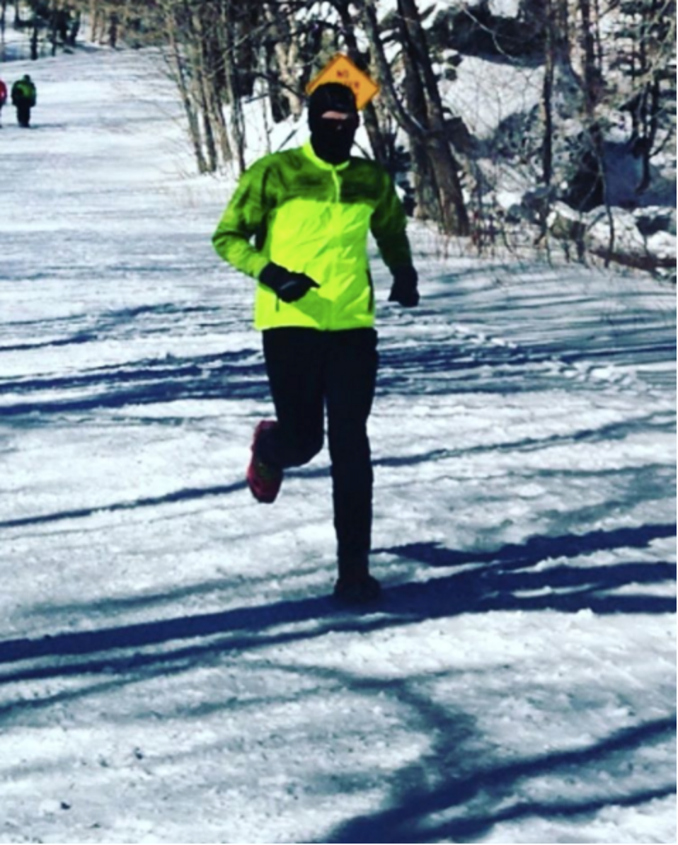 Seven miles conquered in -5 degree weather that felt more like -25 with the wind chill. Now THAT was impressive!     Photo cred: Hunter Stewart