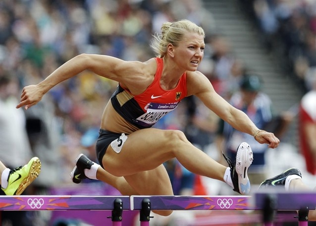 The 100m hurdles