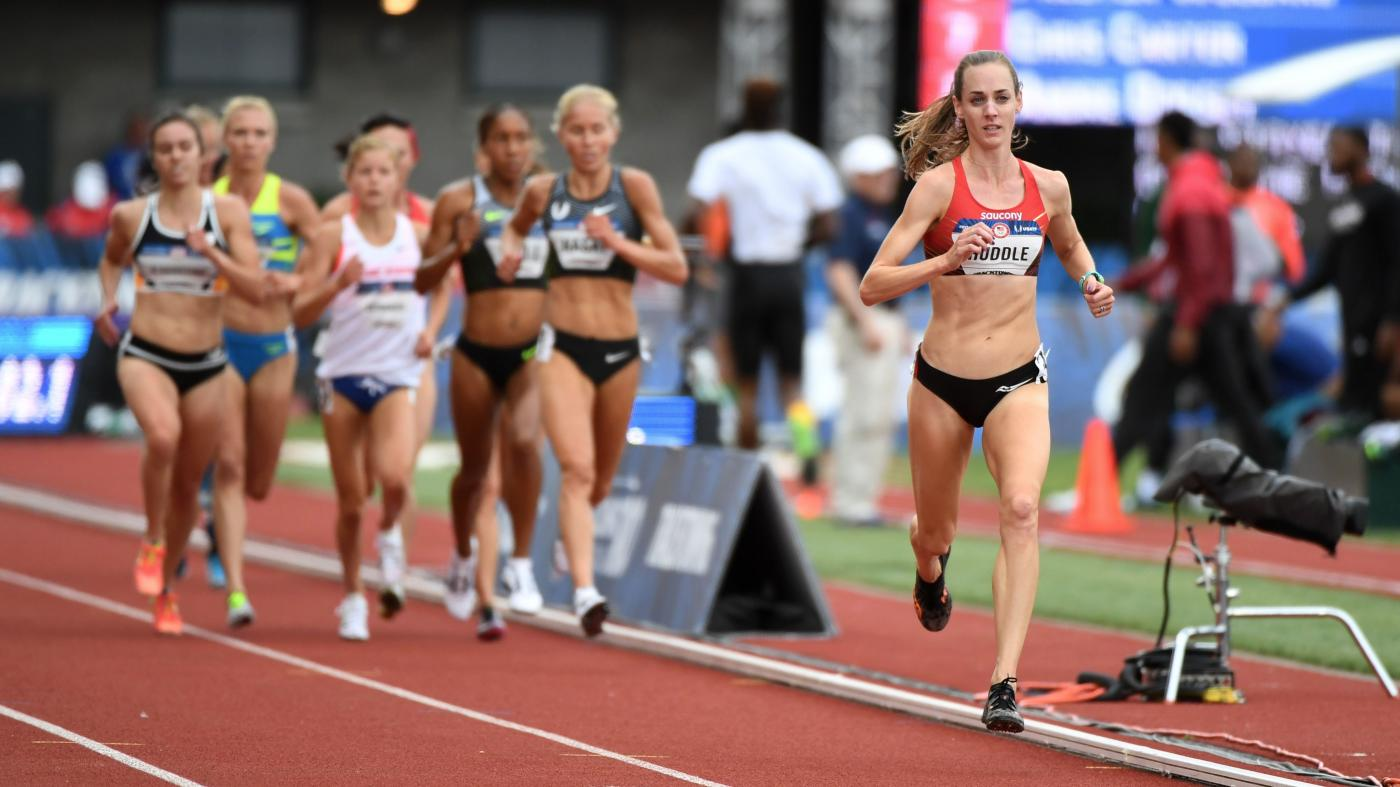 Molly Huddle at the 2016 US Olympic Trials