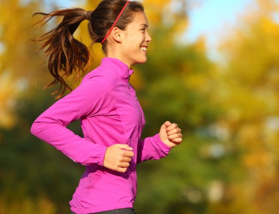 A lady enjoying a morning run. This could be you!
