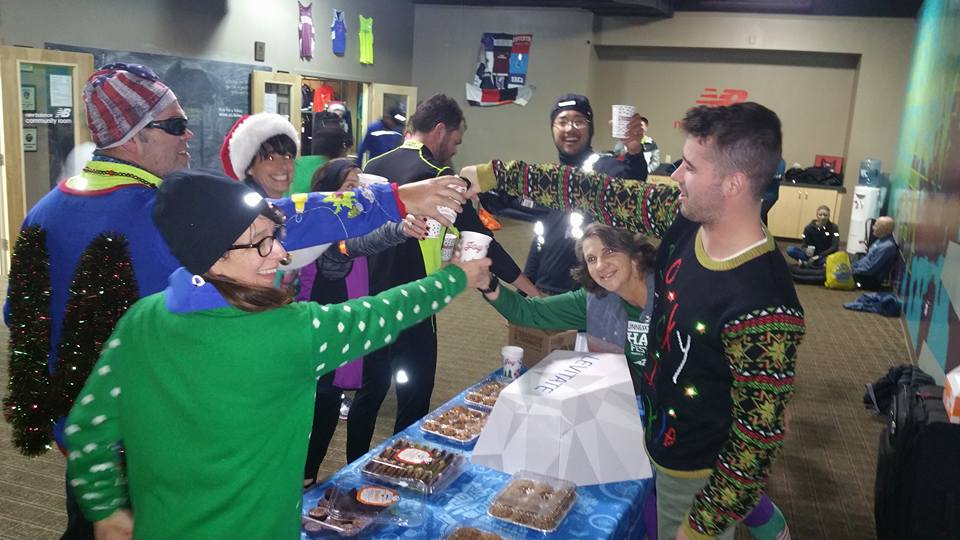 So fun - They even sneak alcohol into the group run....