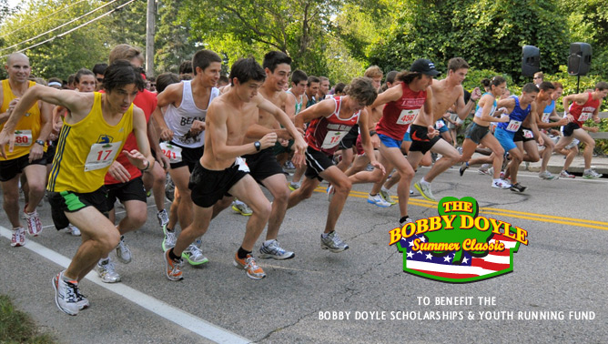 Bobby Doyle 5 miler   The Bobby Doyle 5 miler takes place down in Narragansett on August 11th and it's a steamy one. It's essentially half of the Blessing of the fleet and it's always a blast. We're sure to have a strong contingent of Rhode Runner Running Club members there.