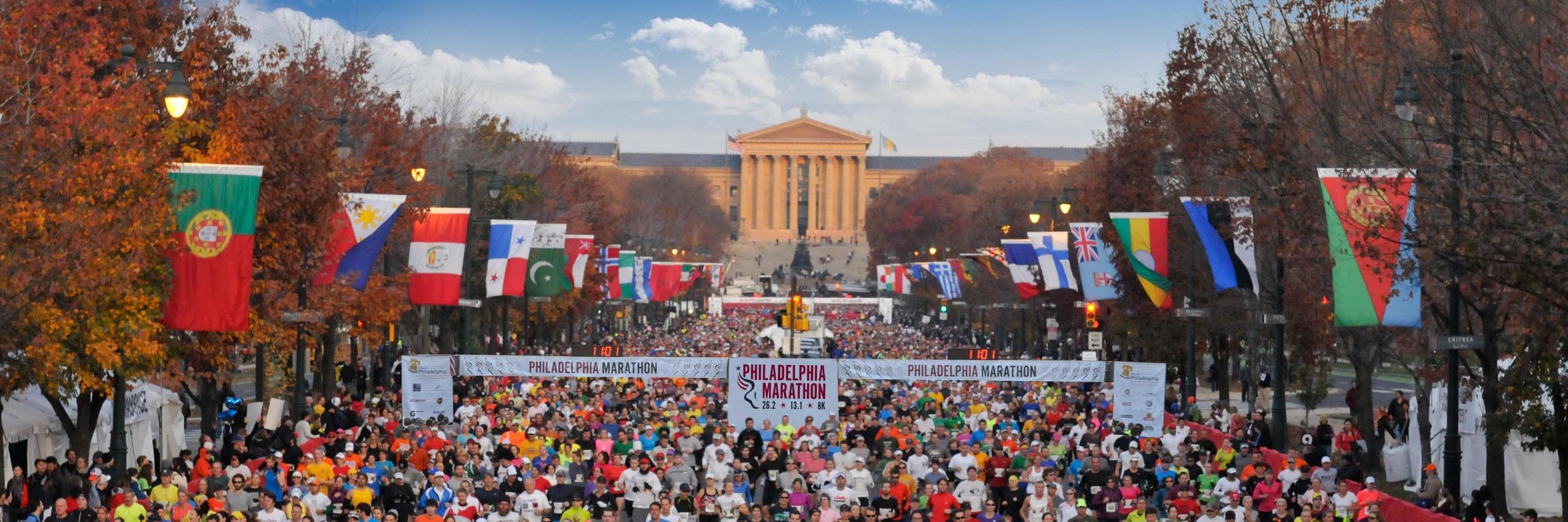 Destination Race: Philadelphia 8k, Half or Full Marathon   Every year the Rhode Runner Running Club takes a trip to an out of town race. The Philly Marathon, half and 8k is an awesome event that takes place on November 22nd through the 24th. We're gonna have a blast. We guarantee it.