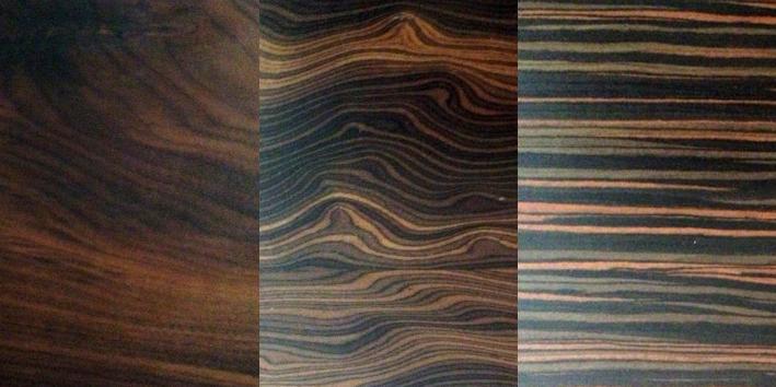 ACABADOS DE MADERA   Walnut / Catania Wood / Macassar Ebony