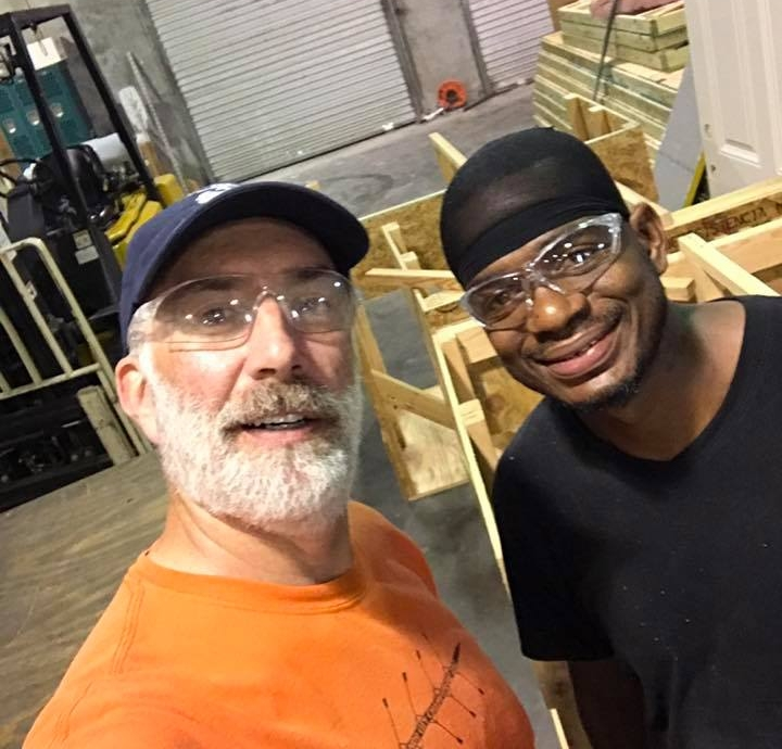 LBC Member John Hursh, founder of 306 Foundation, pictured with a student of the Toolbox4Life construction program.