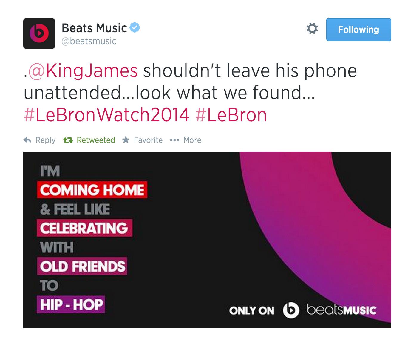 Did Beats' tweet reveal it first?