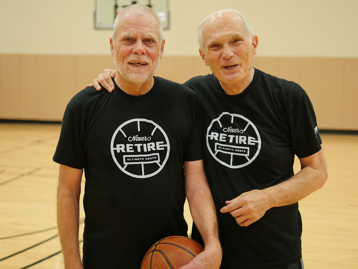 Johnson (left) and Hyslop at Life Time Athletic -Target Center in Minneapolis