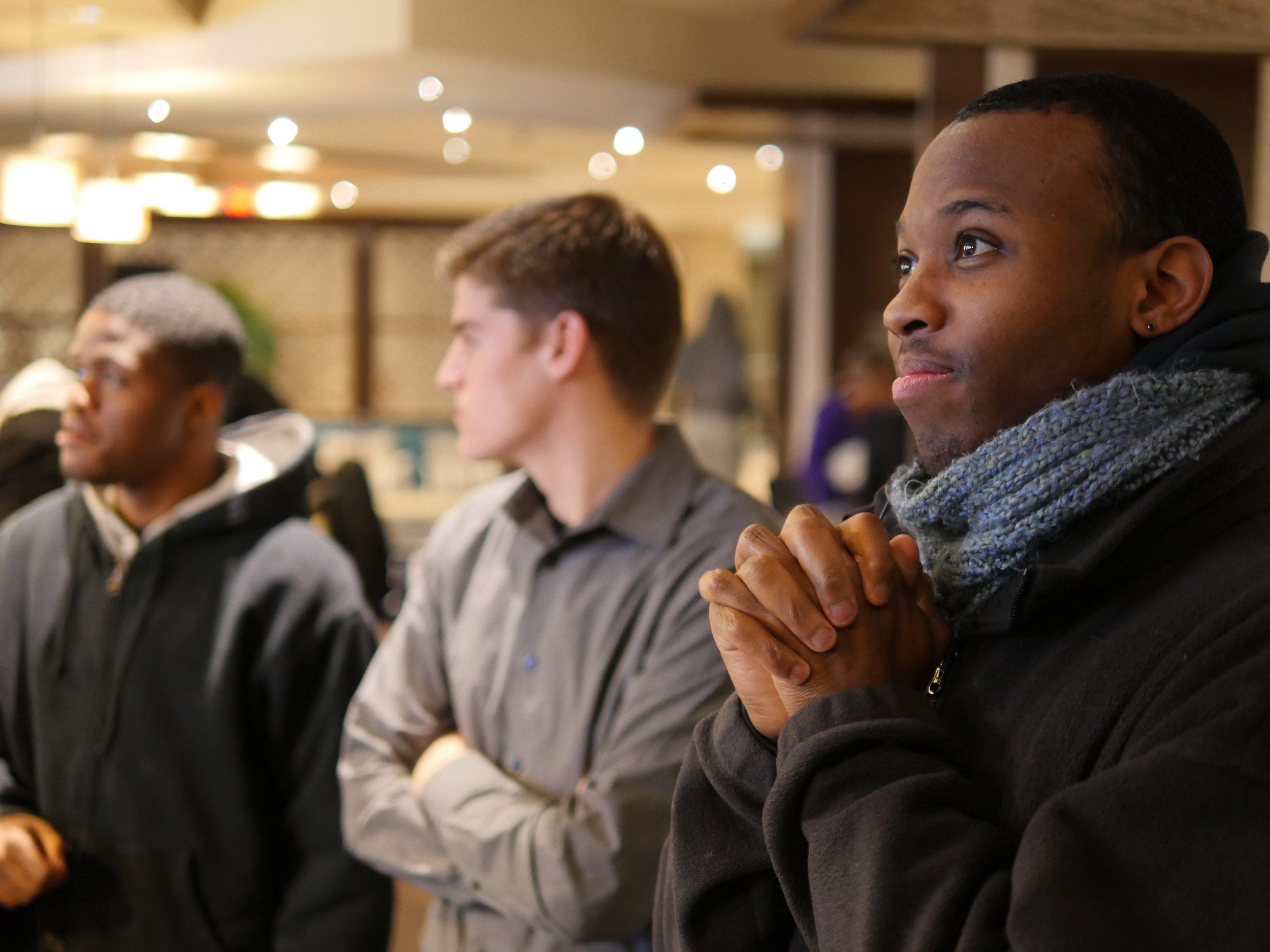 Peyton Dixon waits to hear his name called at last December's Dream League Draft