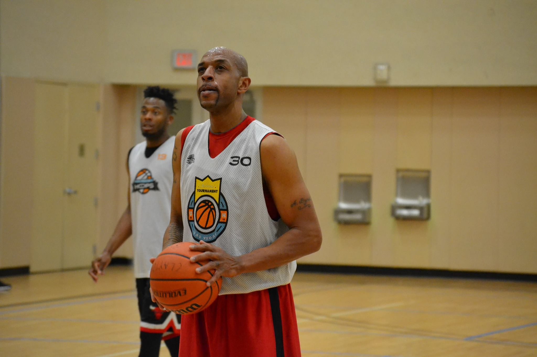 Byrd focusing at the free-throw line