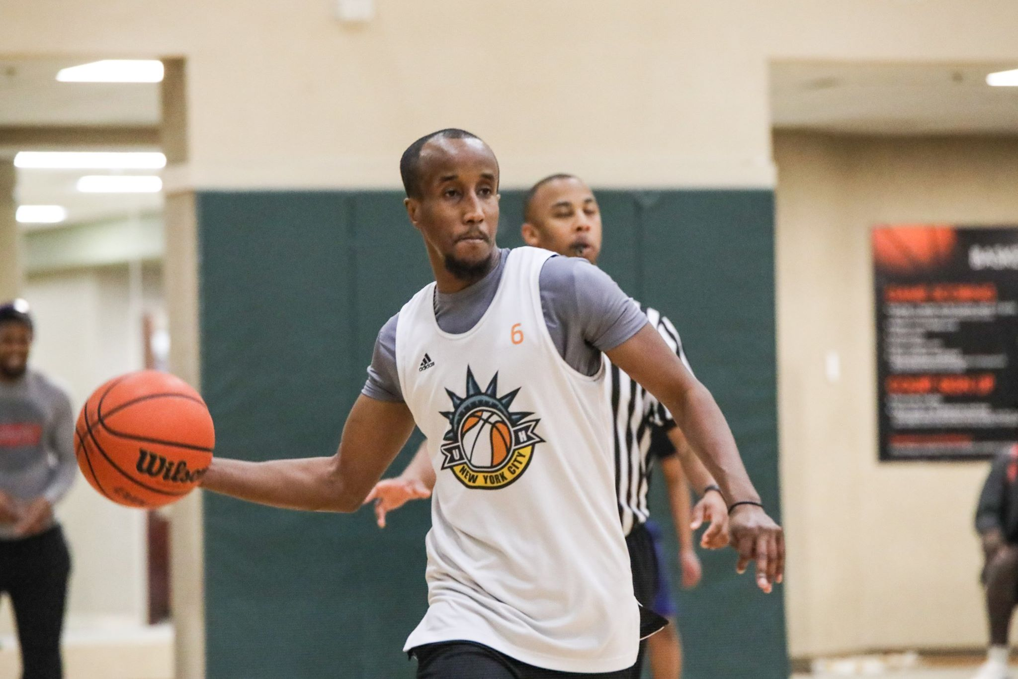 Abdi Mohamed playing in Fridley