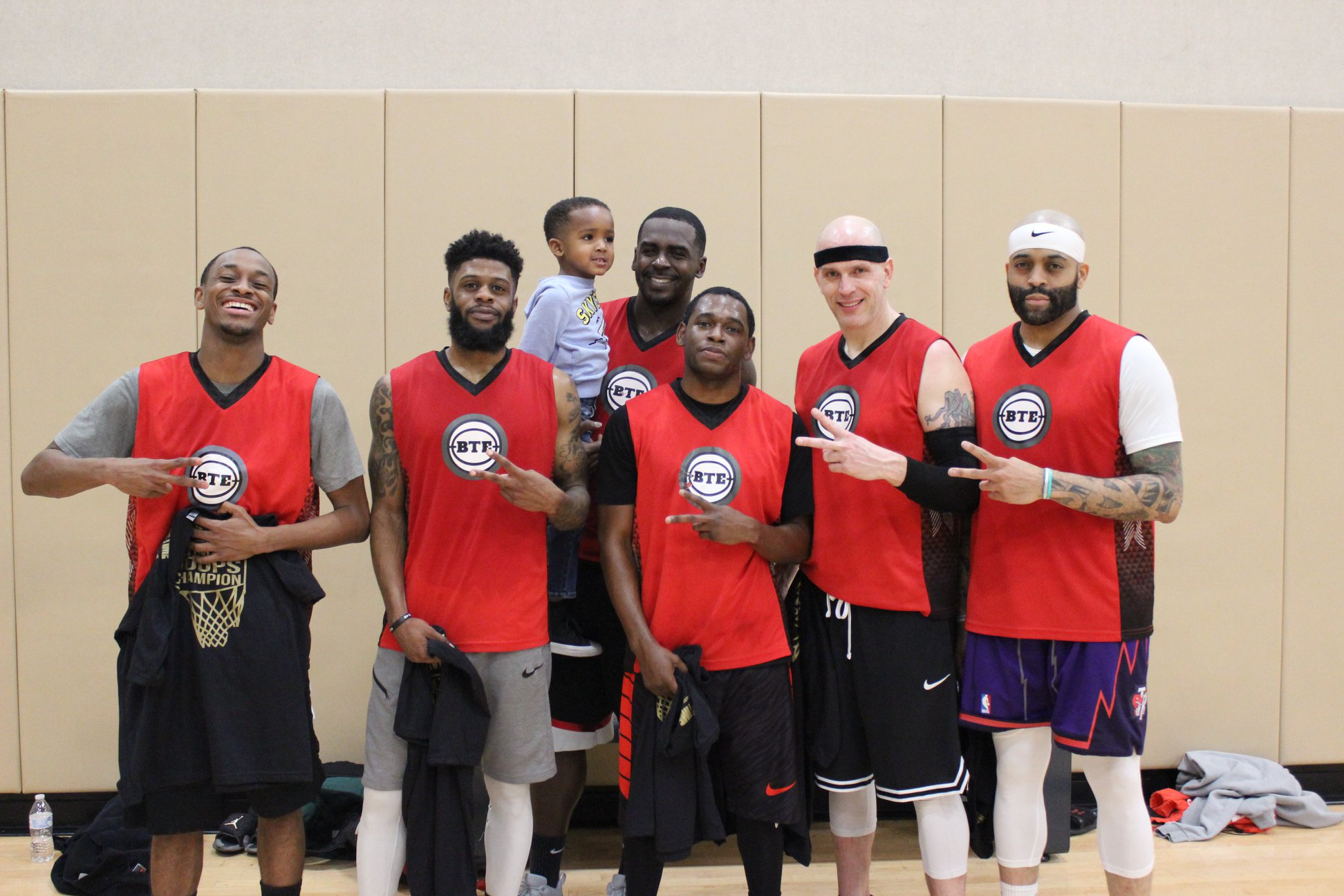 Jordan Cannon (second from the left) after winning the Summerlin Open League