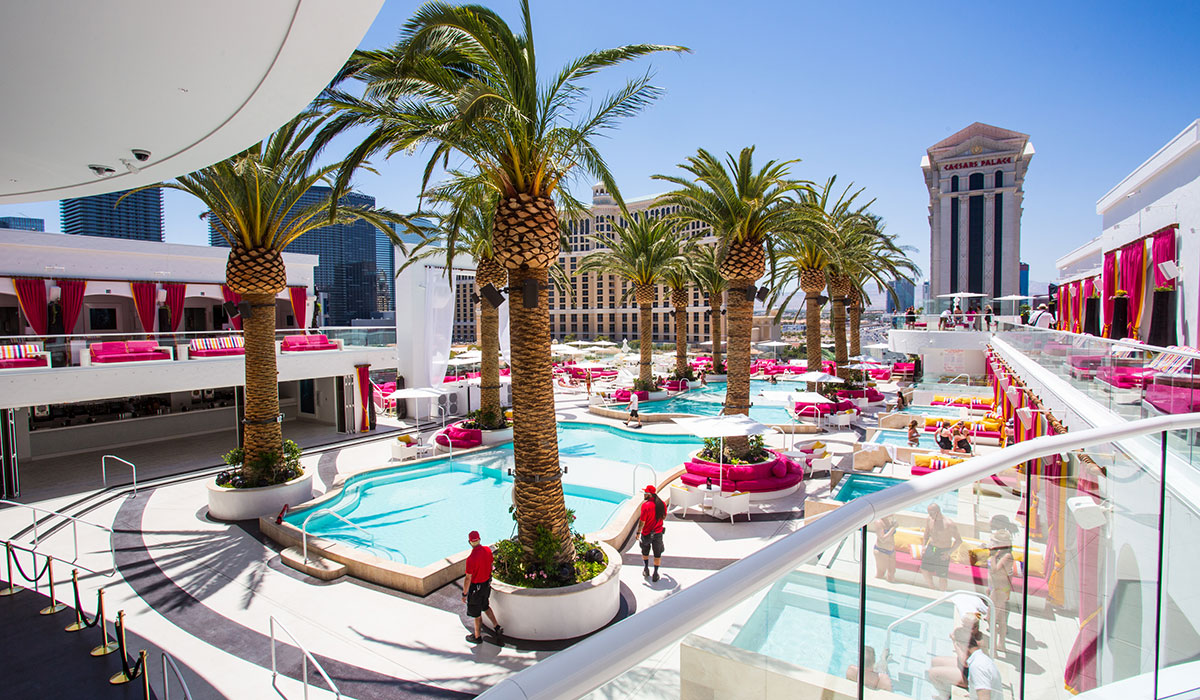 Drai's Beach club on the Las Vegas strip