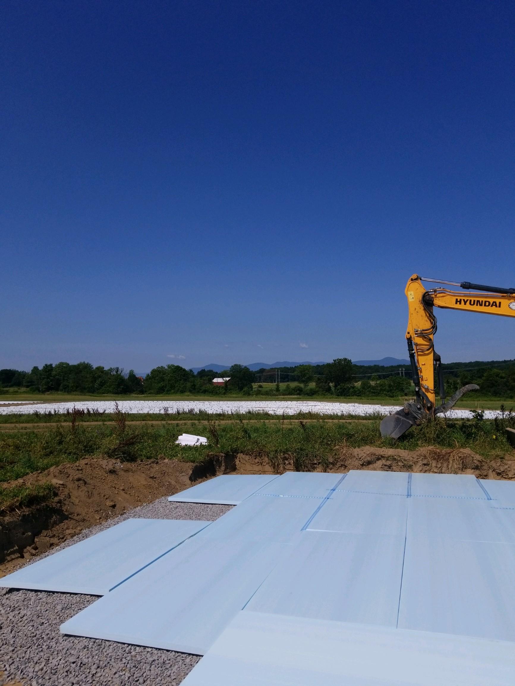 Foundation preparation at Stone House Farms, Livingston NY