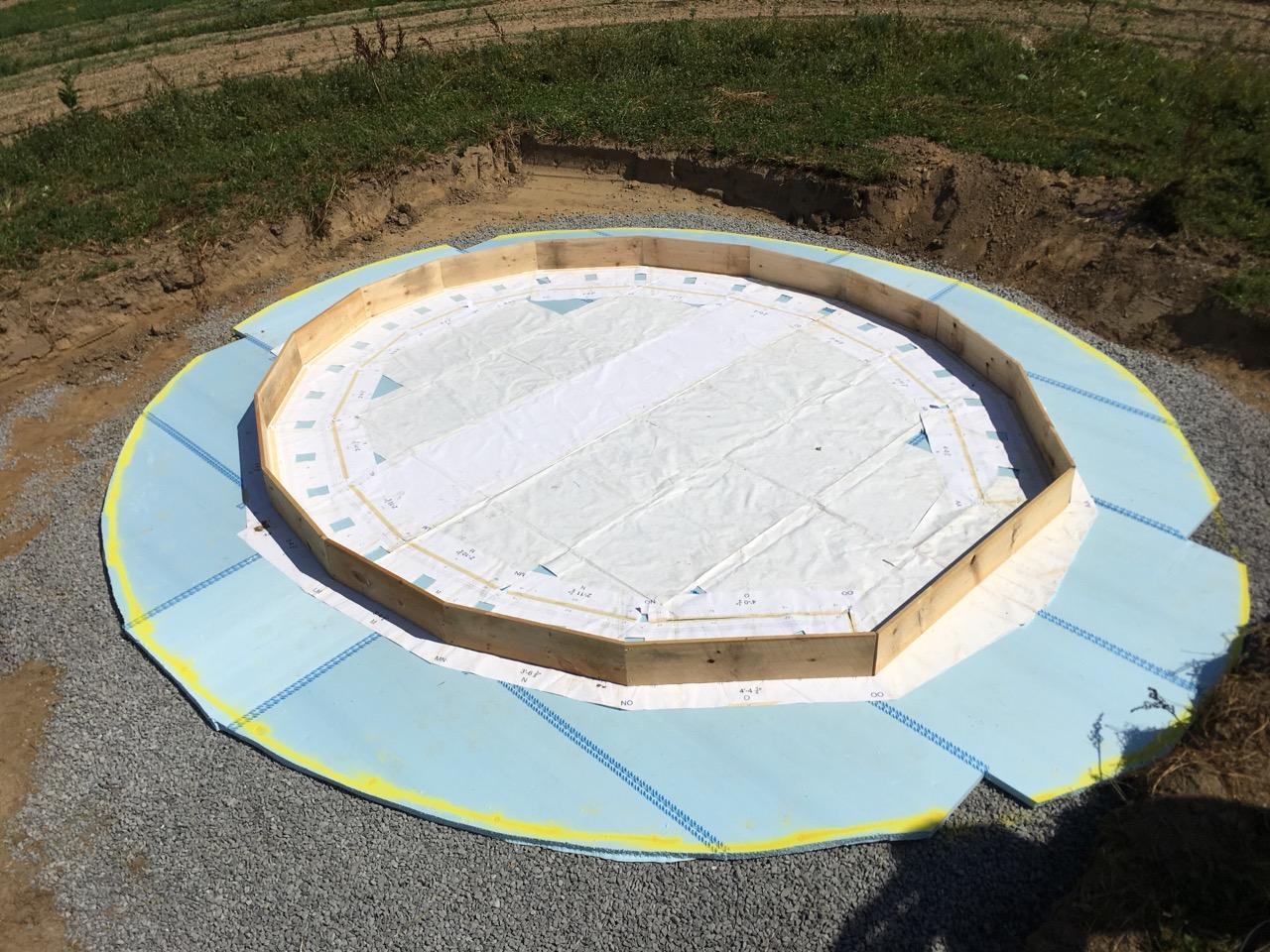 Foundations preparation for Pollinators Pavilion