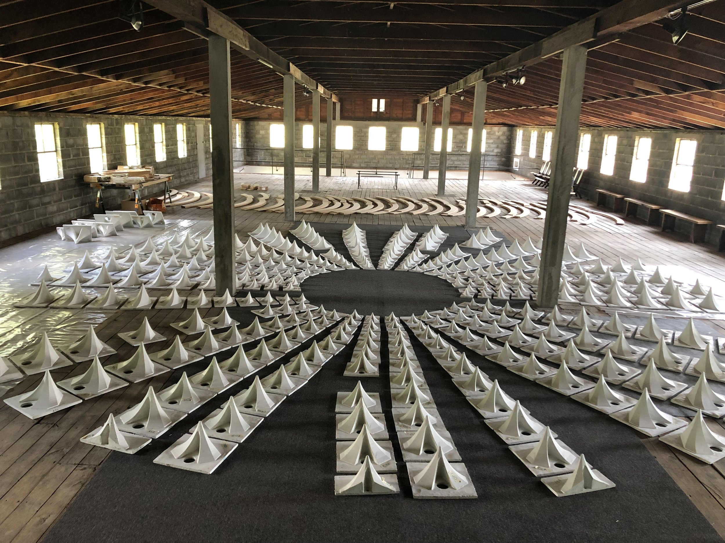 320 UHPC Ductal Panels at artist and project curator Francine Hunter McGivern's The Frank Institute at CR-10, Germantown NY