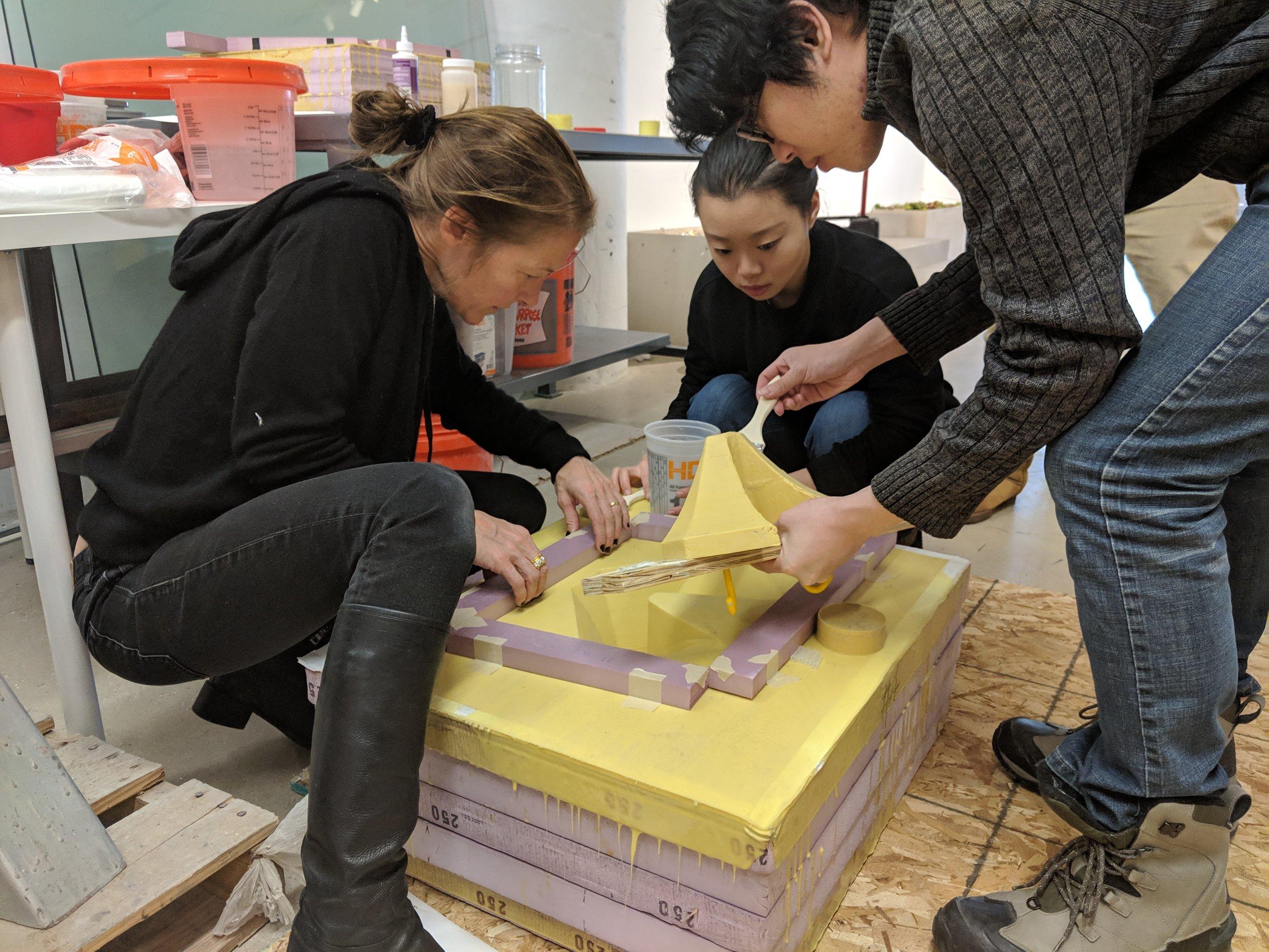 Casting at Ductal Workshop, BNY