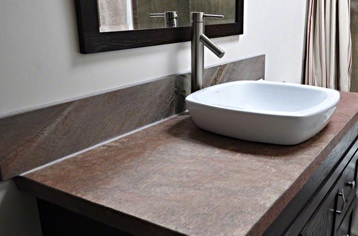 Copper Bathroom Countertop