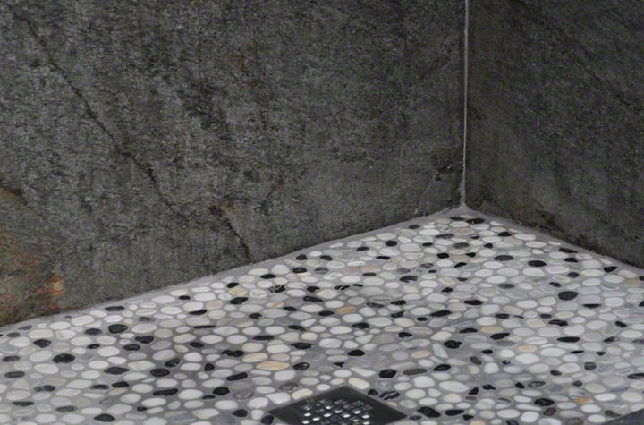 Ocean Black Shower Wall