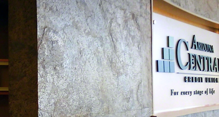 D. Green Bank Accent Wall