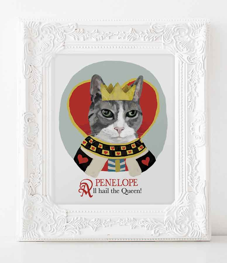 Custom portraits for cat lovers.