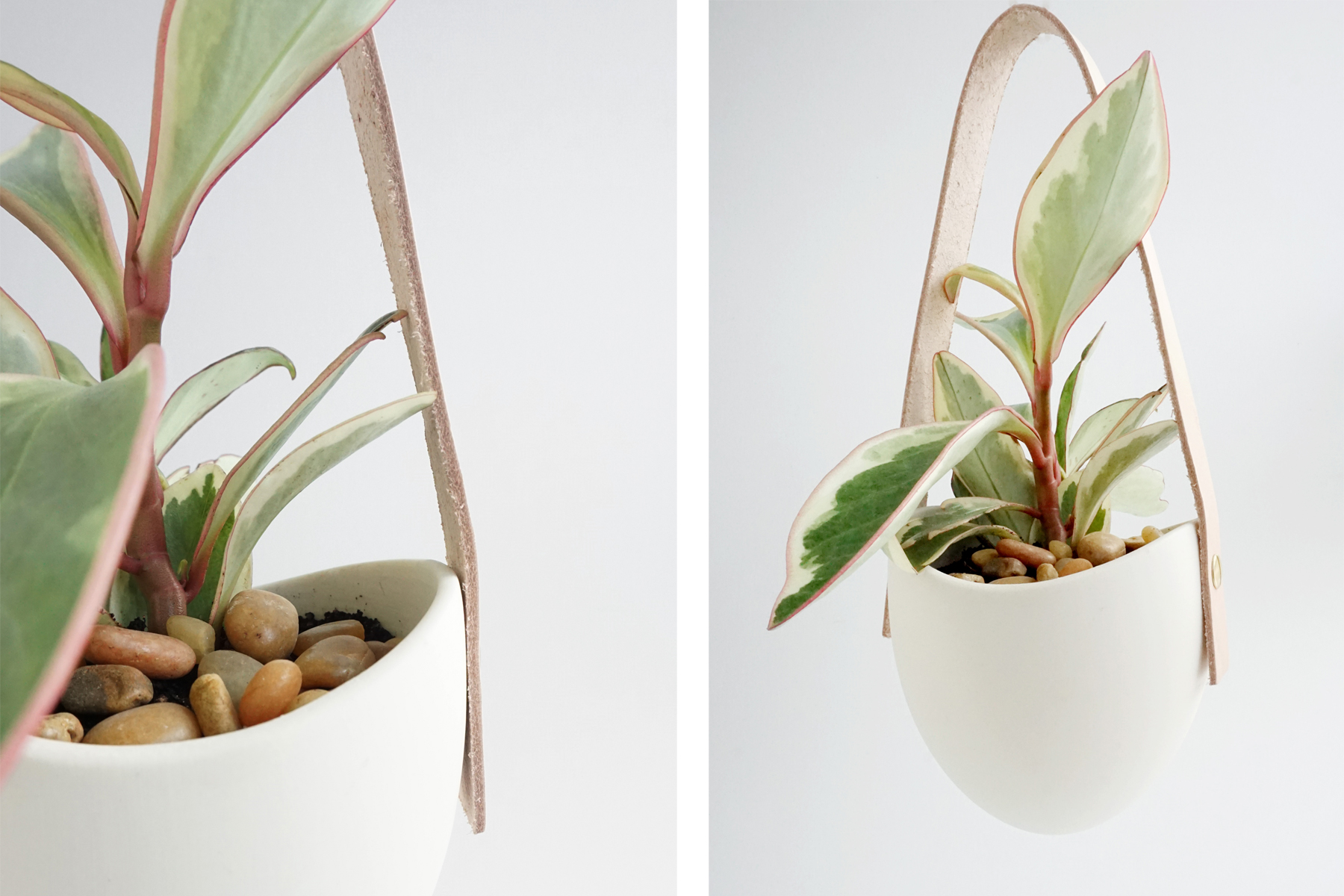 Put rocks on top to help with water flow and prevent water and dry soil from flowing over the top edge of the planter.