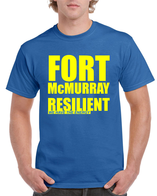 FORT McMURRAY Fundraiser T-shirt_ Royal Blue     Price: $20.00    Size: S, M, L, XL, 2XL, 3XL