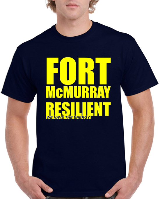 FORT McMURRAY Fundraiser T-shirt_ Navy Blue    Price: $20.00    Size: S, M, L, XL, 2XL, 3XL