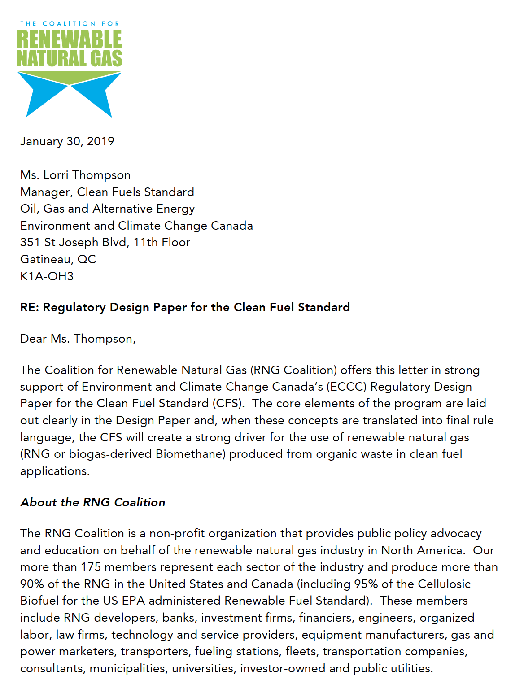 Clean Fuel Standard Regulatory Design Paper Comments