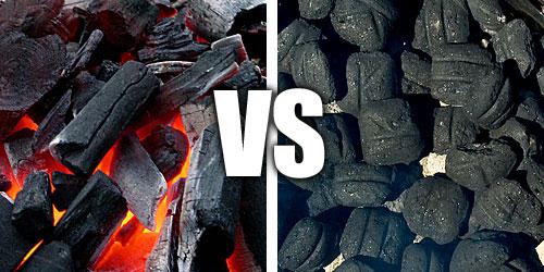 Charcoal briquettes.
