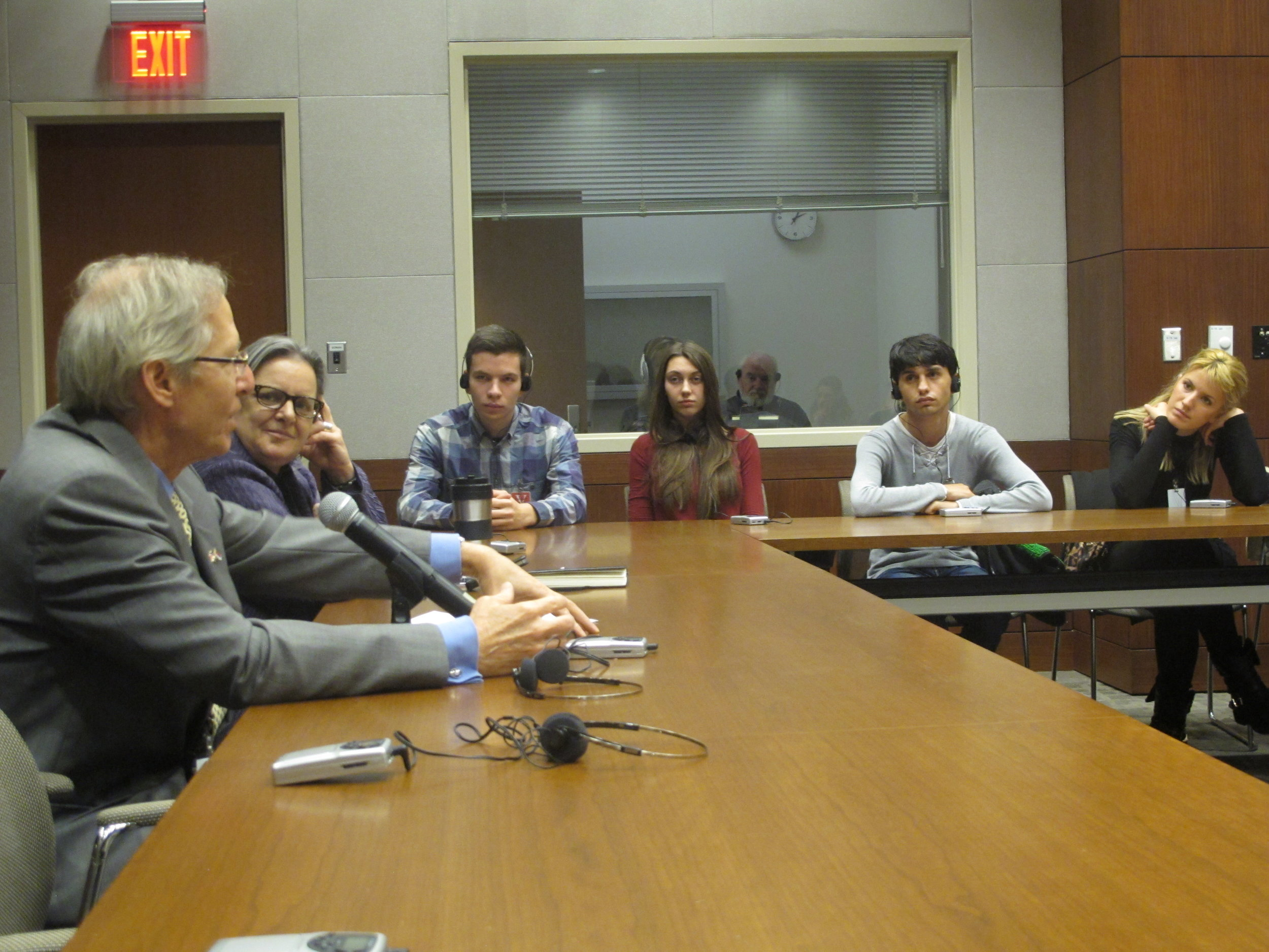 Reclaiming adolescence youth research team meeting US Ambassador in Belgrade. Photo taken with consent: CIP Center