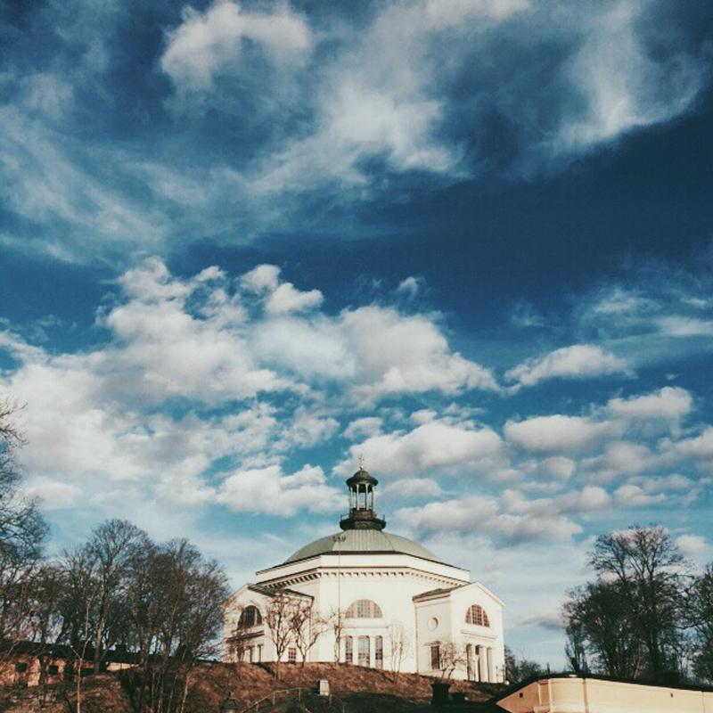 Vårensolen på Skeppsholmen.