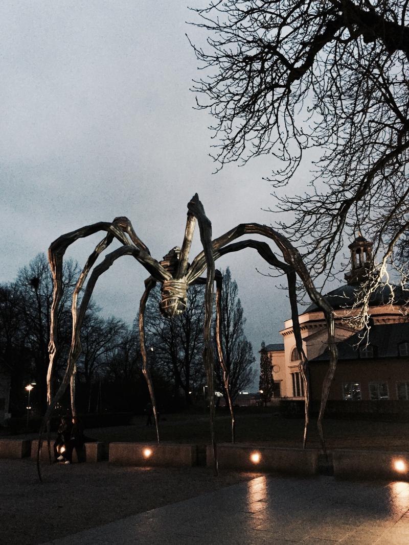 Tog mig till slut till Moderna museet och såg Louise Bourgeois utställning.