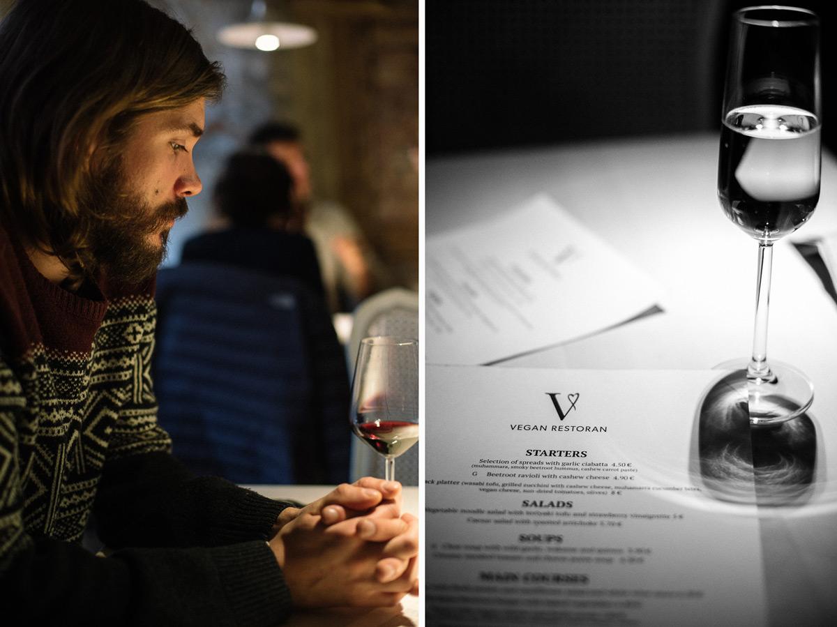 Bra vegansk mat i Tallinn på den veganska restaurangen vegan restoran v