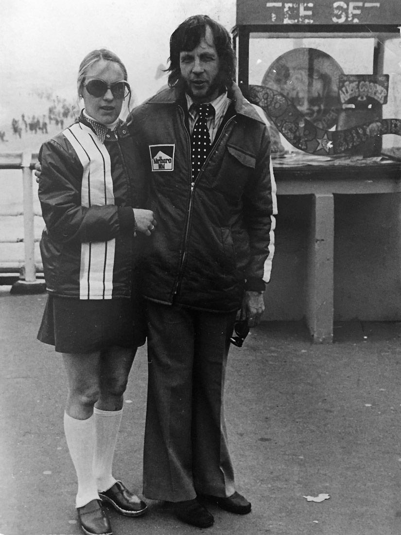 Mamma och pappa som jobbade på Formel 1 Zaandvort bana under 70-talet