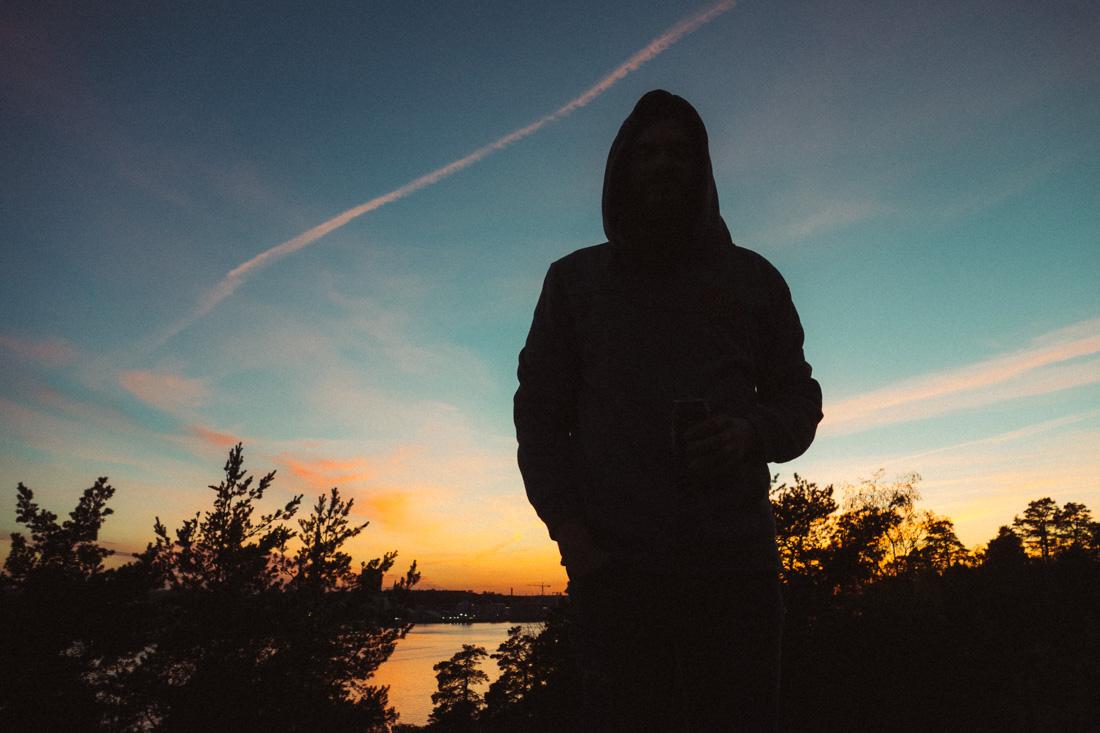 Lidingö i solnedgång
