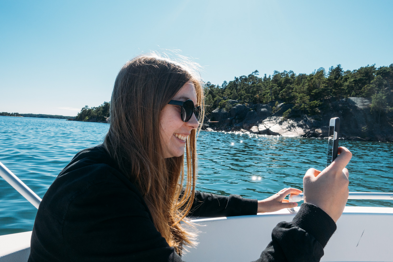 Sofia som driver resebloggen Fantasiresor