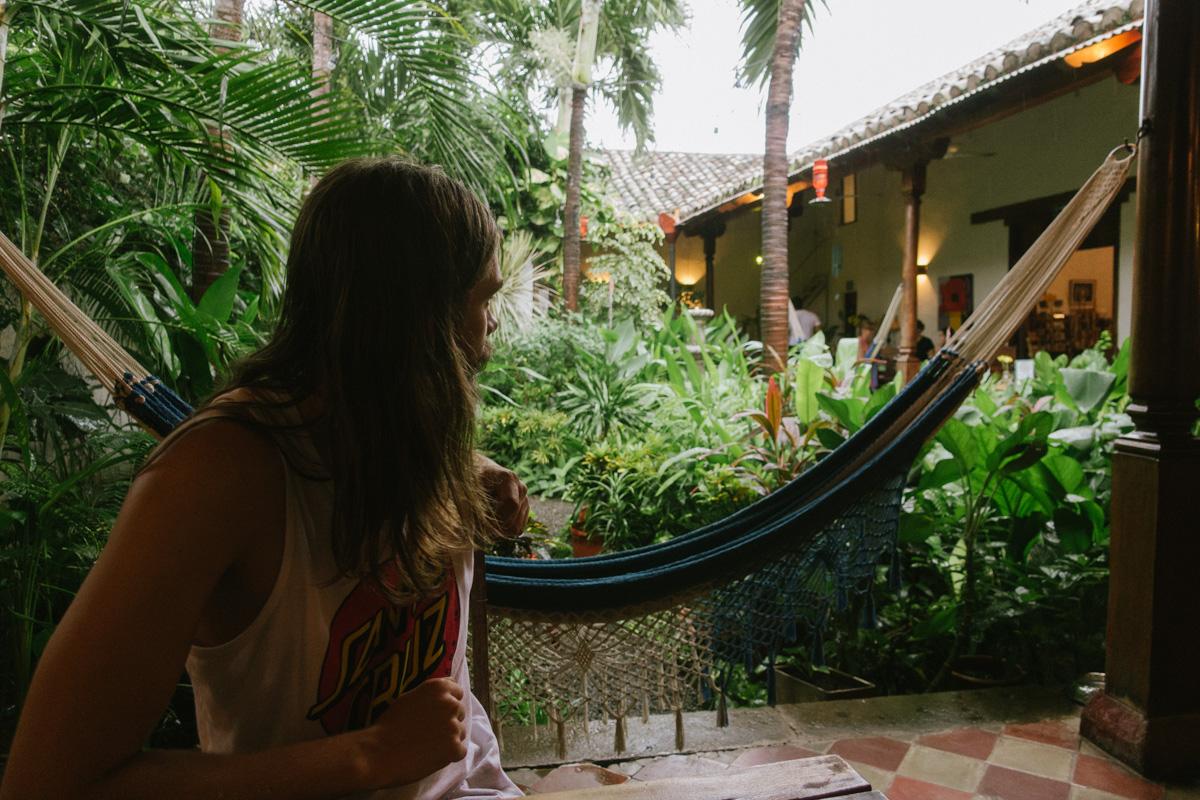 Garden cafe Nicaragua - en guide vart man ska bo och äta i Granada.