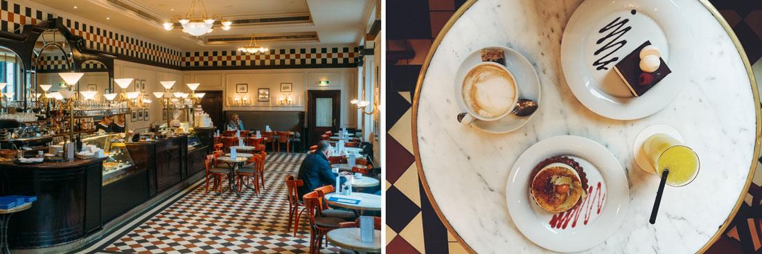 Fika på Bristol hotels cafe i Warszawa för dom bästa bakverken och kaffet, ett tips i min restaurang och cafe guide.