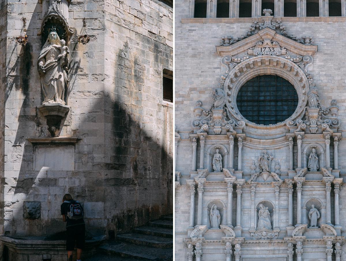 Katedral i Girona som är inspelningsplats för Game of Thrones, en enkel dagsutflykt från Barcelona.