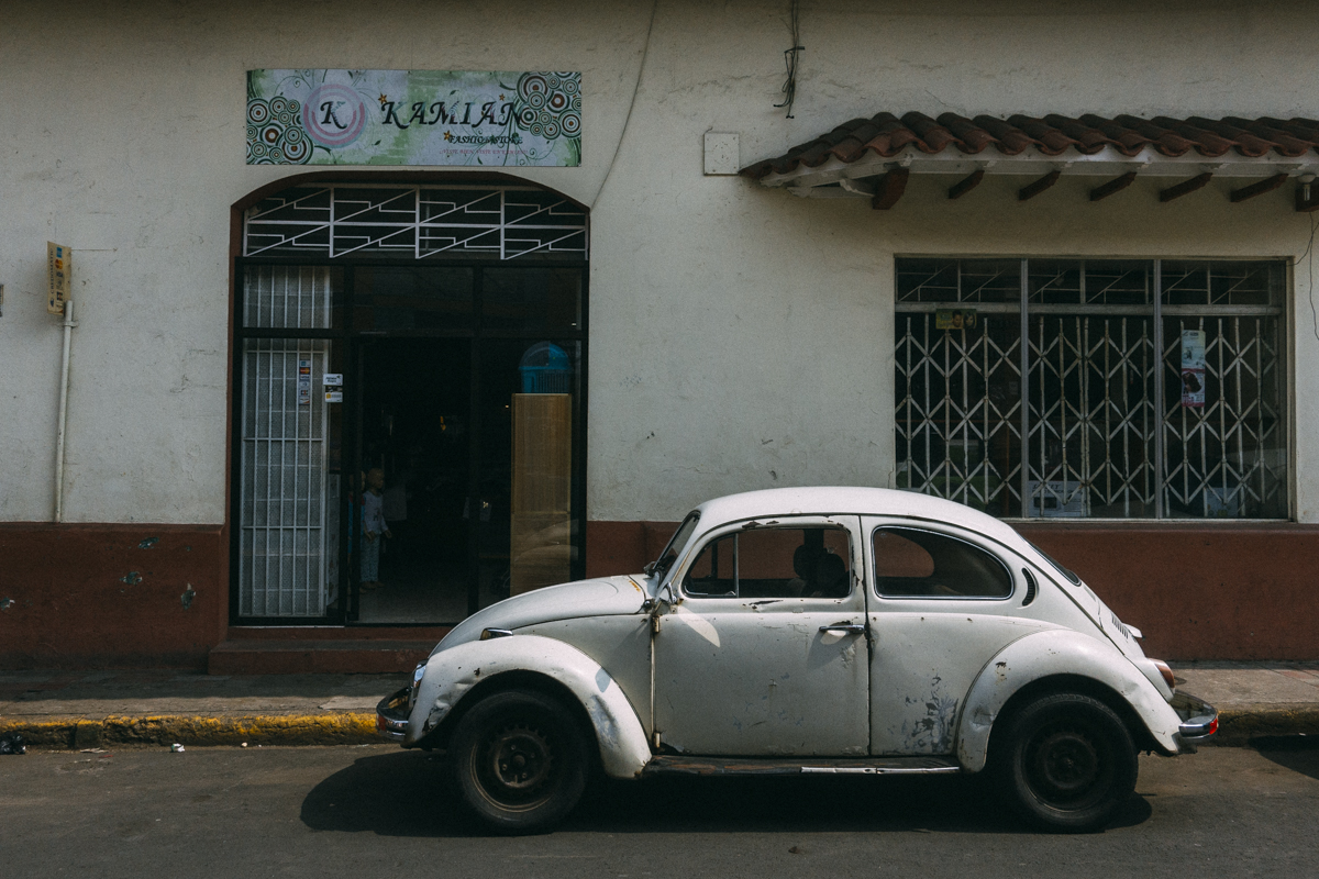 Volkswagen Bubbla bil i Leon Nicaragua
